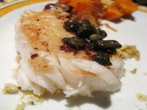 Skate in Black Butter and Capers