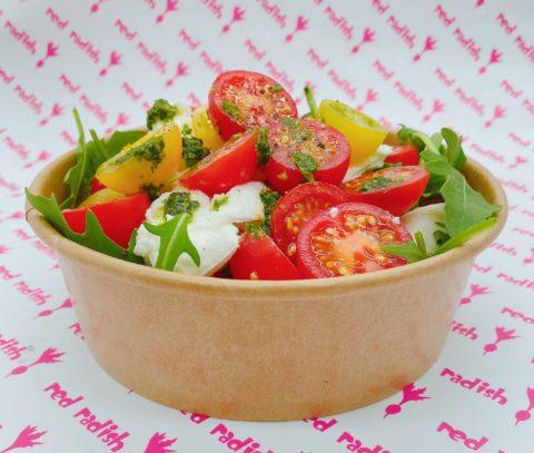 Tomato, Mozzarella, Basil & Pesto Salad