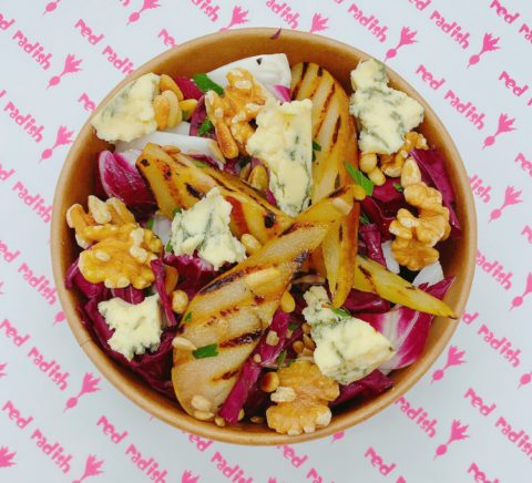 Radicchio, Chargrilled Pear, Walnut & Stilton Salad