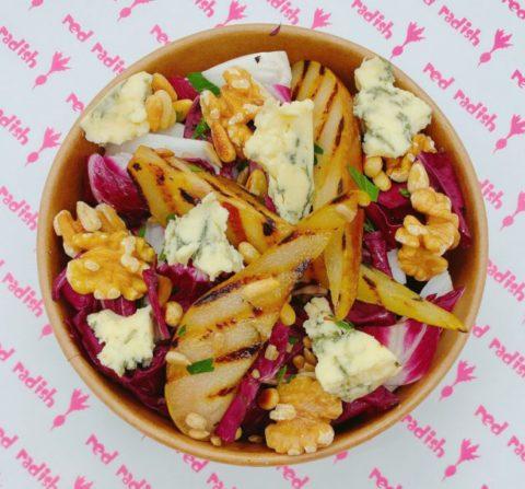Radicchio, Chargrilled Pear, Walnut & Stilton Salad