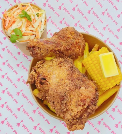Southern Fried Chicken, Corn & Classic Coleslaw