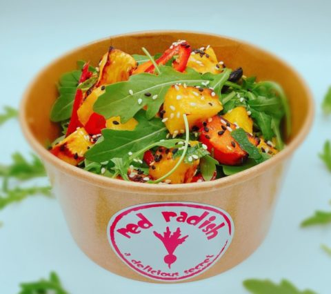Ginger, Orange, Roasted Butternut & Parsnip Salad